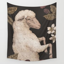 The Sheep and Blackberries Wall Tapestry