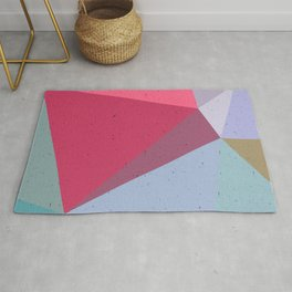 Colourful geometry Rug