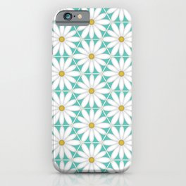 Daisy Hex - Turquoise iPhone Case