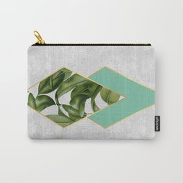 Leaves on marble Carry-All Pouch