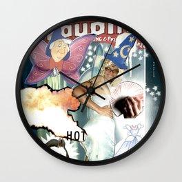 COLLAGE: Magic Dude Wall Clock