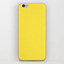 Yellow Zebra Print Pattern iPhone Skin