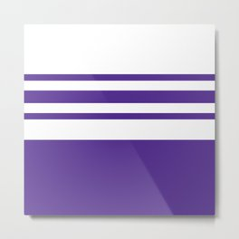 Northwestern Football Color Metal Print
