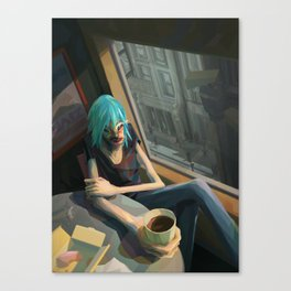 Afternoon fast food Canvas Print