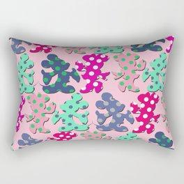 Mickey and Minnie pattern Rectangular Pillow
