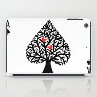 ace iPad Cases featuring Ace of spade by Picomodi