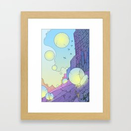 The trail part one mountainside Framed Art Print