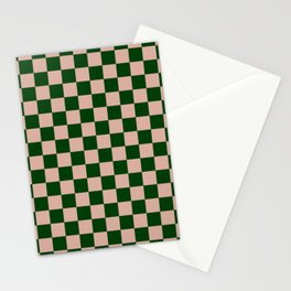 Forest Check Stationery Cards