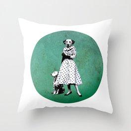 Two dalmatians - humor Throw Pillow