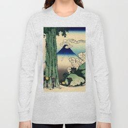 "Hokusai (1760–1849) ""Mishima Pass in Kai Province"" Long Sleeve T-shirt"