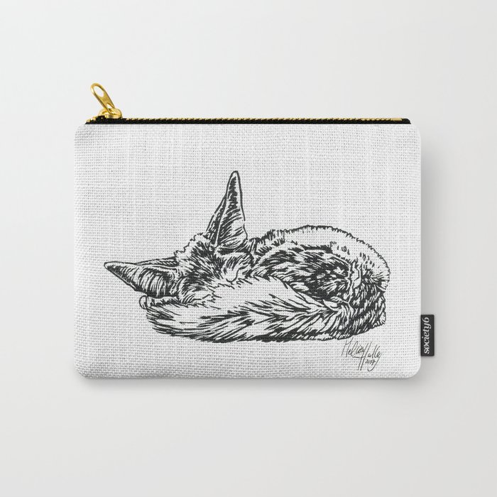 Sleeping Fennec Carry-All Pouch
