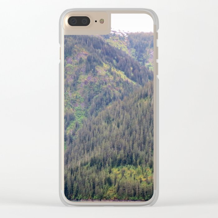 Forest and Mountains Clear iPhone Case