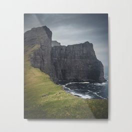 The Cliffs of the Faroes Metal Print