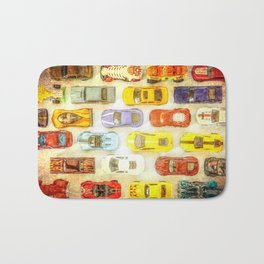 Vintage Toy Cars Bath Mat