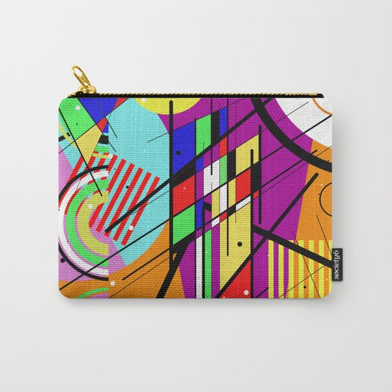 Crazy Retro 2 - Abstract, geometric, random collage Carry-All Pouch