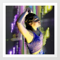 Electric Lady Art Print