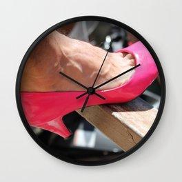 pink shoe Wall Clock