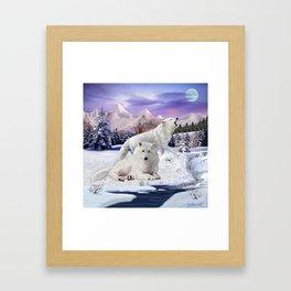 Snow Wolves of the Wilderness Framed Art Print