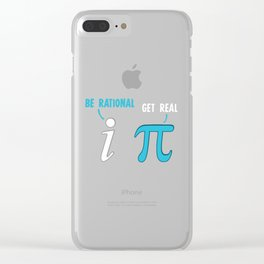 Be Rational Get Real Funny Math Joke Stats Pun Clear iPhone Case