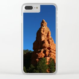Red Rock Canyon Rockformation Clear iPhone Case