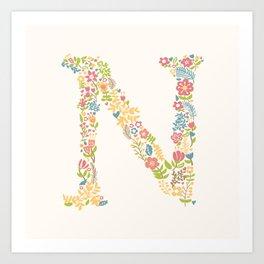 Alphabet N Art Print