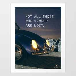 Great quote for travellers Art Print