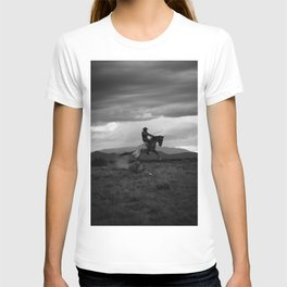 Black and White Cowboy Being Bucked Off T-Shirt