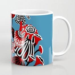 Magic Mushroom Red black blue Coffee Mug