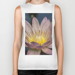 Beautiful Wateer Lily Biker Tank