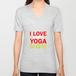 Yoga meditation ommm Mama Mother Sports Gift Unisex V-Neck