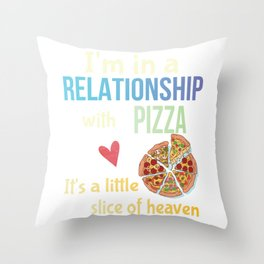 Funny Pizza Lovers Pun Cheesy Joke Gift Throw Pillow