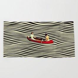 Illusionary Boat Ride Beach Towel