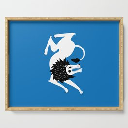 Dancing Beasts: Lion Serving Tray