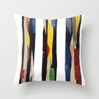 subway Throw Pillows featuring Subway by Myles Hunt