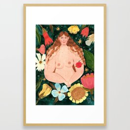 I decide what to grow in my body Framed Art Print