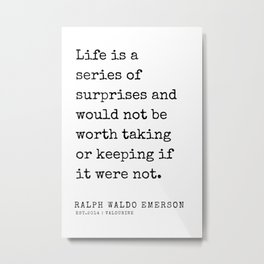 75  | Ralph Waldo Emerson Quotes | 200727 Metal Print