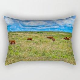 The Lizard Peninsula Brown Cows Rectangular Pillow