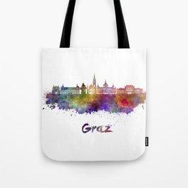 Graz skyline in watercolor Tote Bag