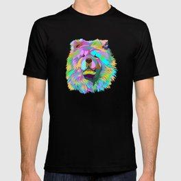 Colourful Chow Chow Dog T-shirt