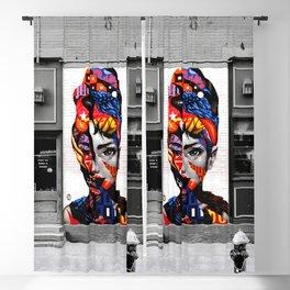 Audrey Hepburn NYC Street Art Blackout Curtain