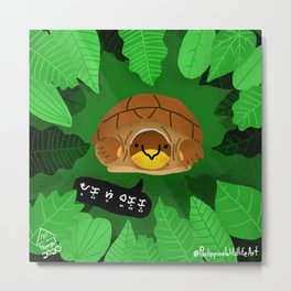 Bakoko the Palawan Forest Turtle in Baybayin Metal Print