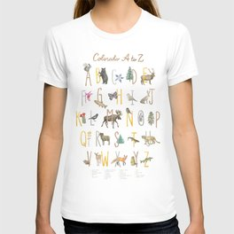 Colorado A to Z Illustrated Alphabet with Key T-shirt