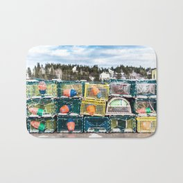 Lobster fishing season preparation Bath Mat