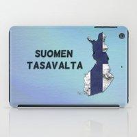 finland iPad Cases featuring Finland / Suomen Tasavalta by Dandy Octopus