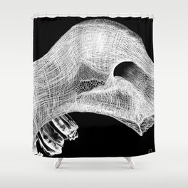 Jaw Bone Shower Curtain