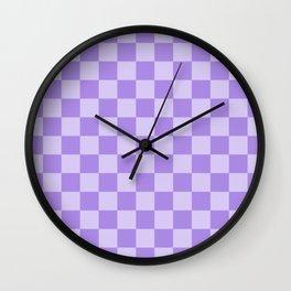 Lavender Check Wall Clock