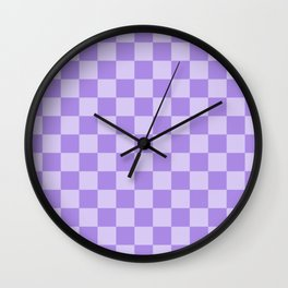 Lavender Check Wall Clock