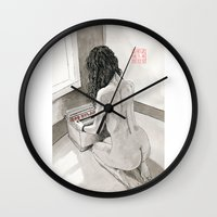 record Wall Clocks featuring Record Collection by Bryan James
