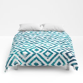 Geometric Watercolor Comforters