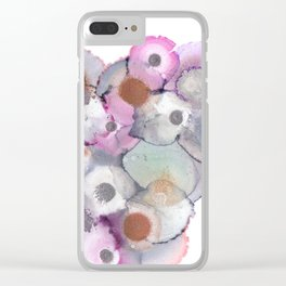 Metallic Blossom Clear iPhone Case